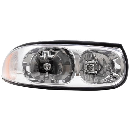 Pengers Headlight Headlamp With Fluted High Beam Replacement For Buick 19245372