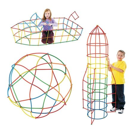 Jeobest Straw Connector Building Kit - Straws Builders Construction Building Toy - Colorfulr Interlocking Straw Building Blocks for Kids Straws and Connectors Set Develops Motor Skills MZ - Building For Kids