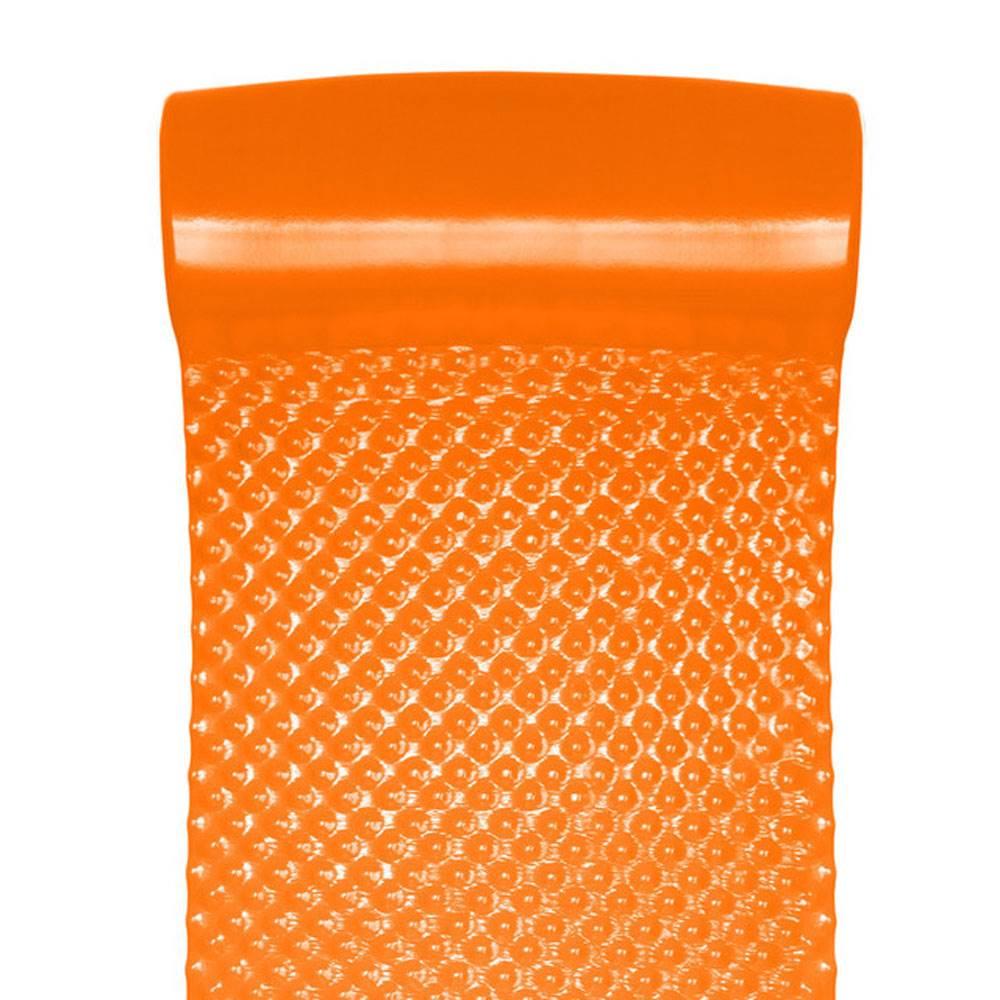 "2 Pack Texas Recreation Super Soft Orange 70/"" Foam Mat Raft Lounger Pool Float"