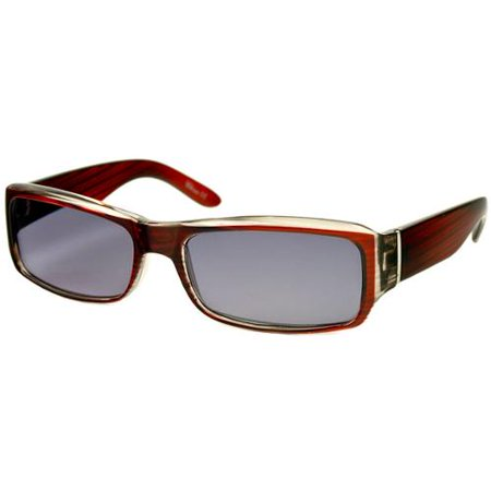 7749609844d Readers.com The Darwin Sun Reader +1.25 Red Stripe with Smoke Unisex  Rectangle Reading Sunglasses - Walmart.com