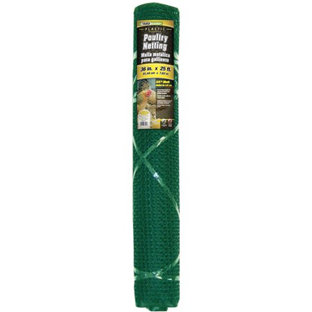 YARDGARD 3 Foot x 25 Foot Black Plastic Poultry Netting