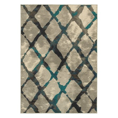 Addison Heights Hollis Abstract Grey/Blue Rug