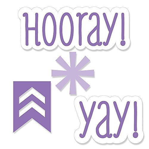 Chevron Purple - DIY Shaped Party Cut-Outs - 24 Count