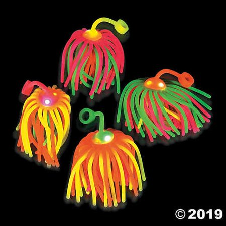 Flashing Neon Large Stretchy Noodle Ball YoYos (Neon Noodle)