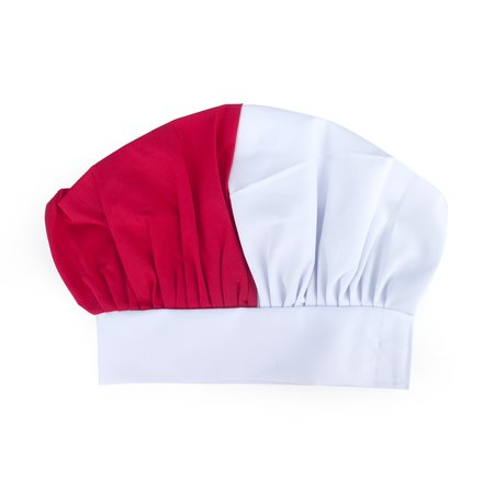 Opromo Blank Italian Chef Hat-White/Green/Red](Italian Skimmer Hat)
