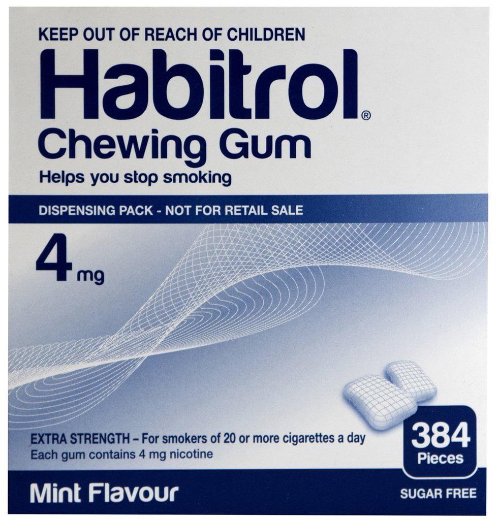 Habitrol Nicotine Gum 4mg Mint 384 Pieces Stop Smoking Aid