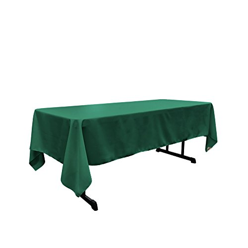 """LA Linen Polyester Poplin 60 by 108"""" Rectangular Tablecloth, Teal by LIVEDITOR LIGHTING"""