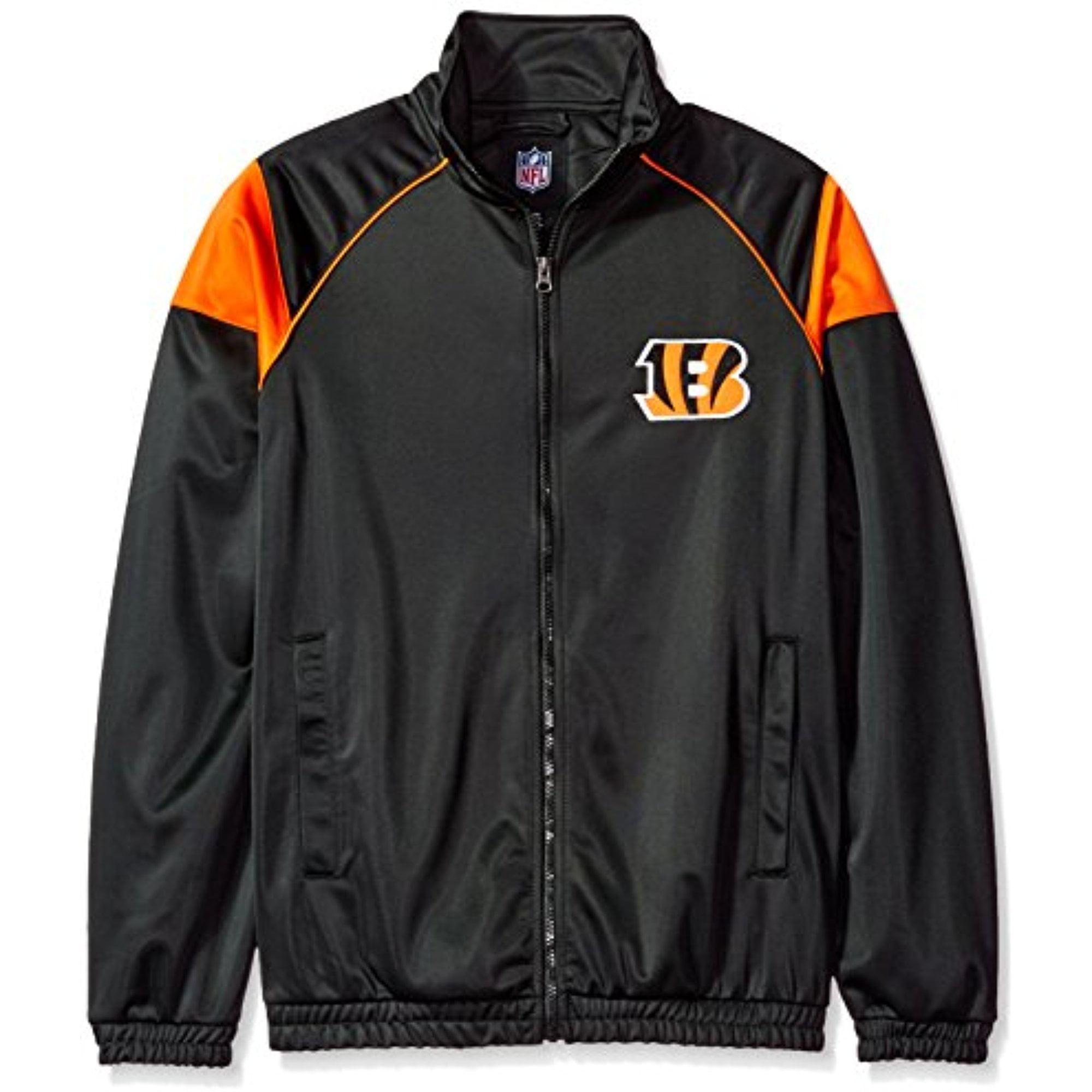 NFL Cincinnati Bengals Men's G-III Sports Dash Track Jacket, Black, Large by