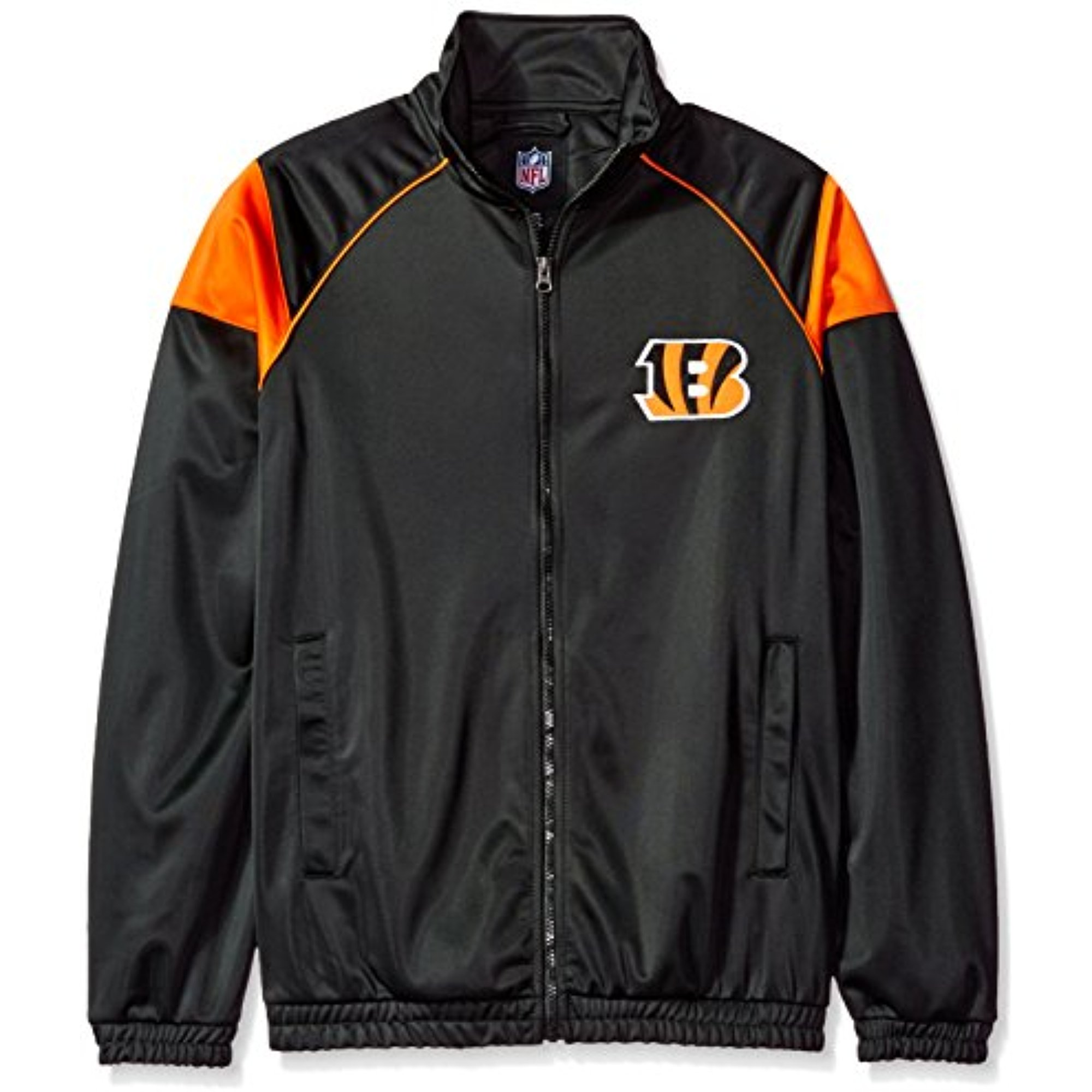 NFL Cincinnati Bengals Men's G-III Sports Dash Track Jacket, Black, Large