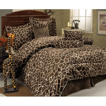 7 Piece Giraffe Animal Kingdom Bedding Comforter Set