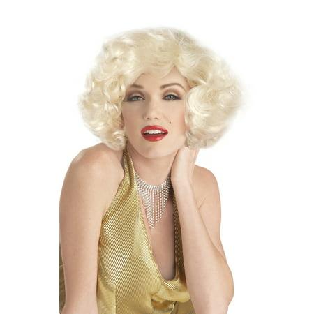 Sexy Marilyn Costume Wig - Blonde - Marilyn Halloween