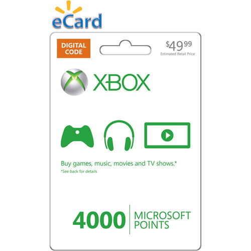 (Email Delivery) Xbox LIVE 4000 Points Online Game Code, (Xbox 360)