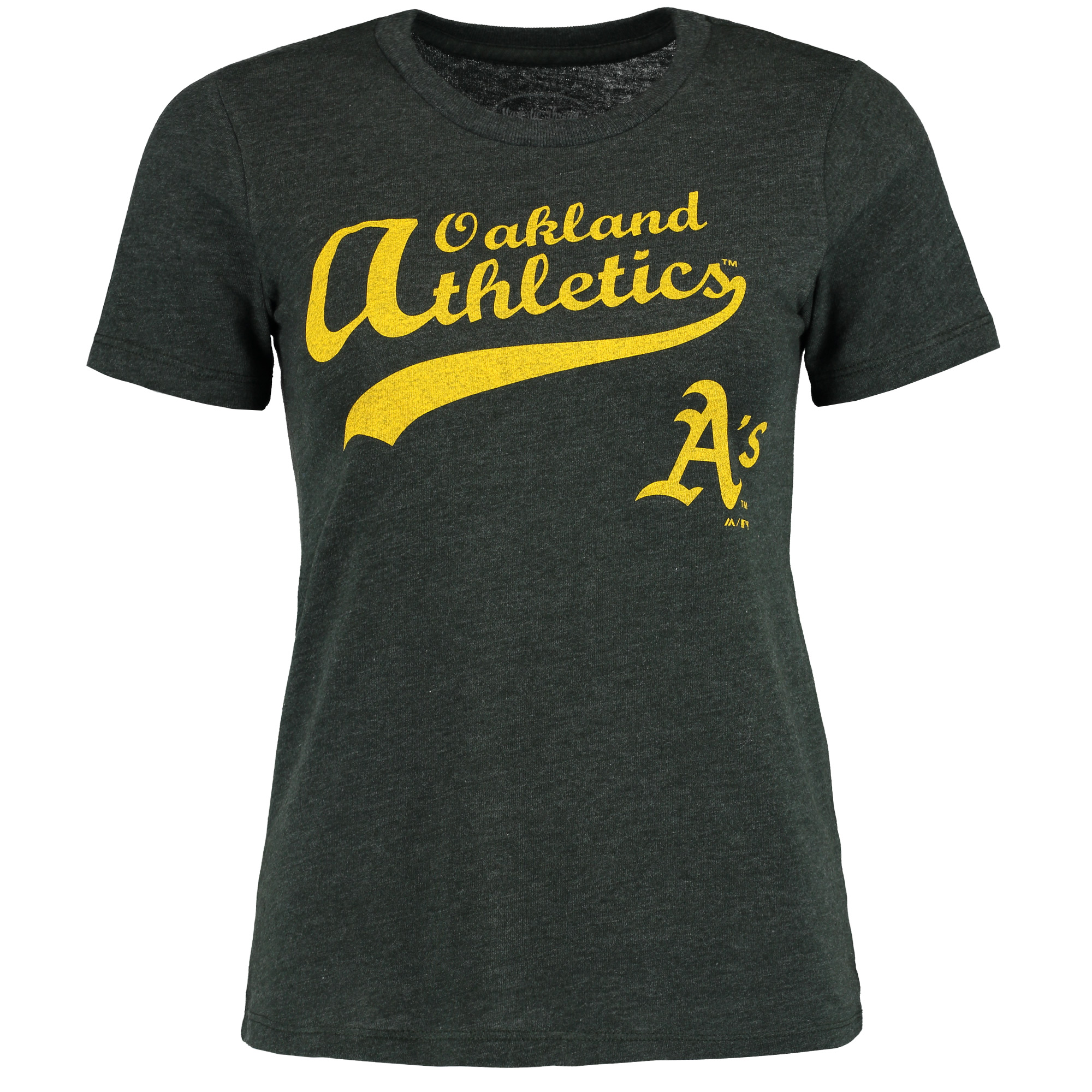 Oakland Athletics Majestic Threads Women's Front and Back Tri-Blend T-Shirt - Green