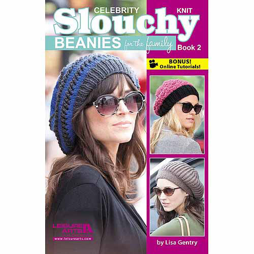 Leisure Arts Slouchy Beanies For The Family, Book 2, Knit