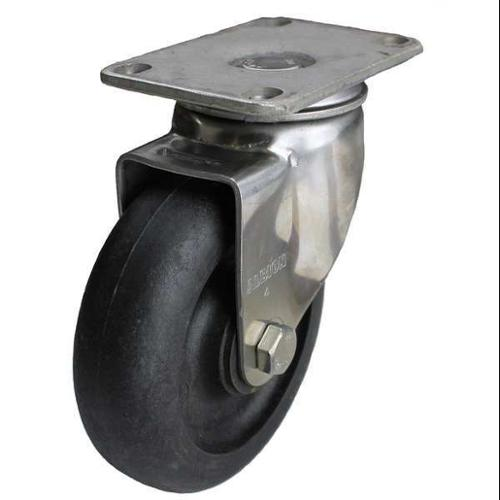 GRAINGER APPROVED Swivel Plate Caster,Glass Filled Nylon,3-1/2in,250lb, P12SX-HNG035G-12