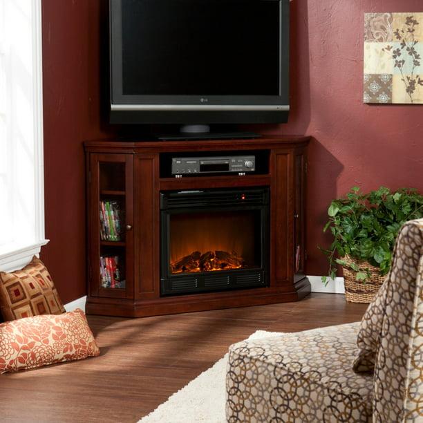 Silverado Convertible Media Fireplace, Cherry - Box 1 of 2