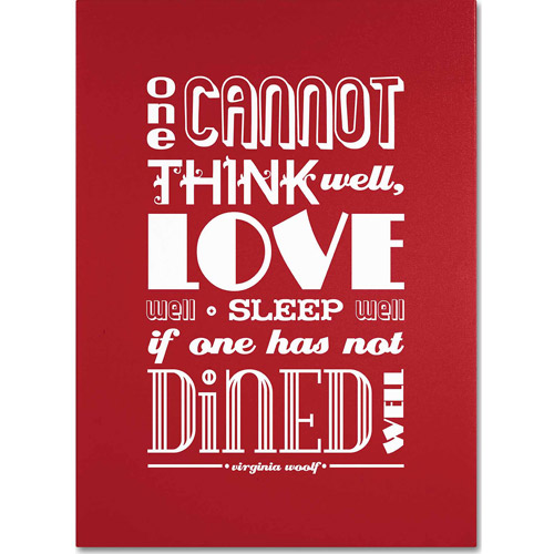 "Trademark Fine Art ""Dined Well III"" Canvas Art by Megan Romo"