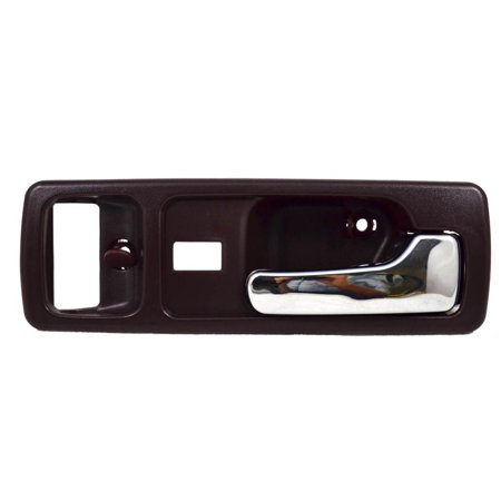 - PT Auto Warehouse HO-2380MB-FR - Inner Interior Inside Door Handle, Burgundy Red Housing with Chrome Lever - 2-Door Coupe, with Power Lock Hole, Passenger Side