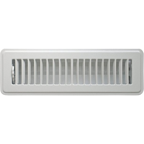 ABFRWH210 Floor Register With Louvered Design, 2-Inch X 10-Inch(Duct Opening Measurements), White - Walmart.com - Walmart.com