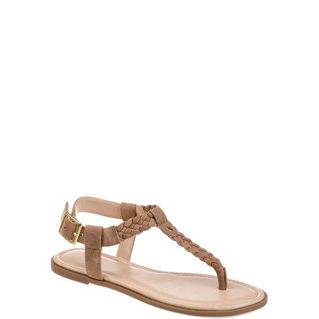Brinley Co. Womens Braided T-strap Sandal