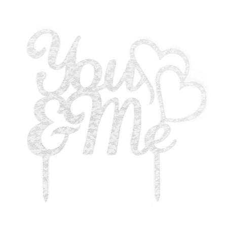 Unique BargainsWedding Party Acrylic DIY Craft Personalized Cake Topper Decoration Silver Tone](Diy Halloween Cakes Pinterest)
