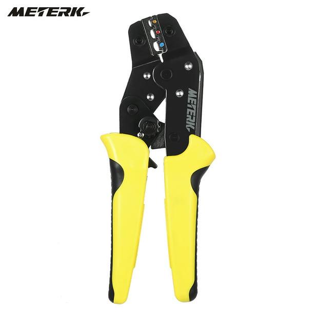 Meterk Wire Crimper Ratchet Terminal Crimping Plier 24-14AWG 0.25-2.5mm2 B2Z8