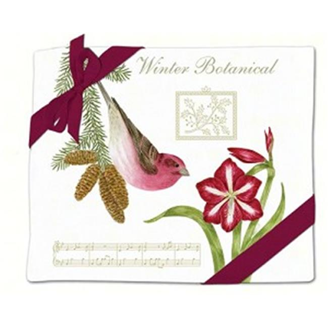 Purple Finch Flour Sack Towel