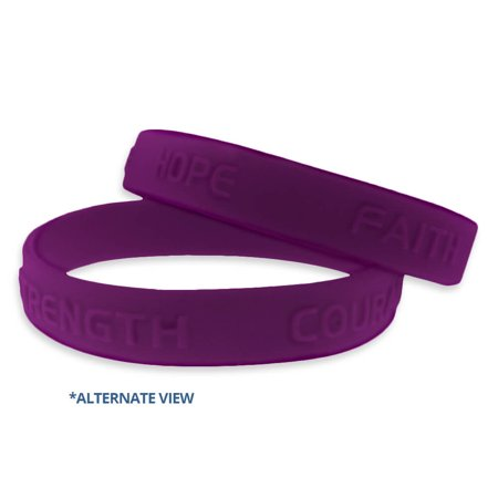 Purple Domestic Violence Awareness Rubber Bracelet