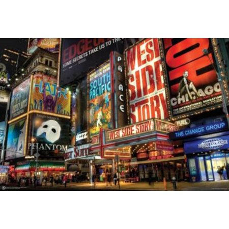 New York City Times Square Theater District Broadway Photo Art Print Poster 36x24 inch