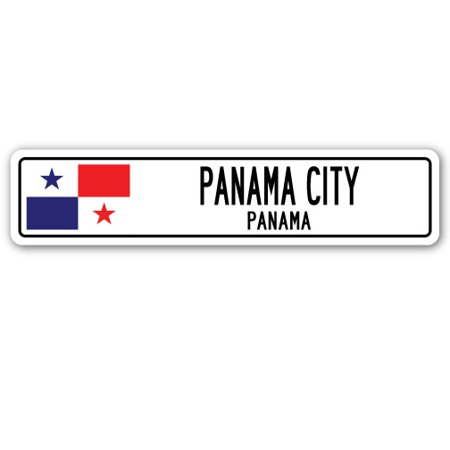PANAMA CITY, PANAMA Street Sign Panamanian flag city country road wall gift](Halloween City Old Country Road)