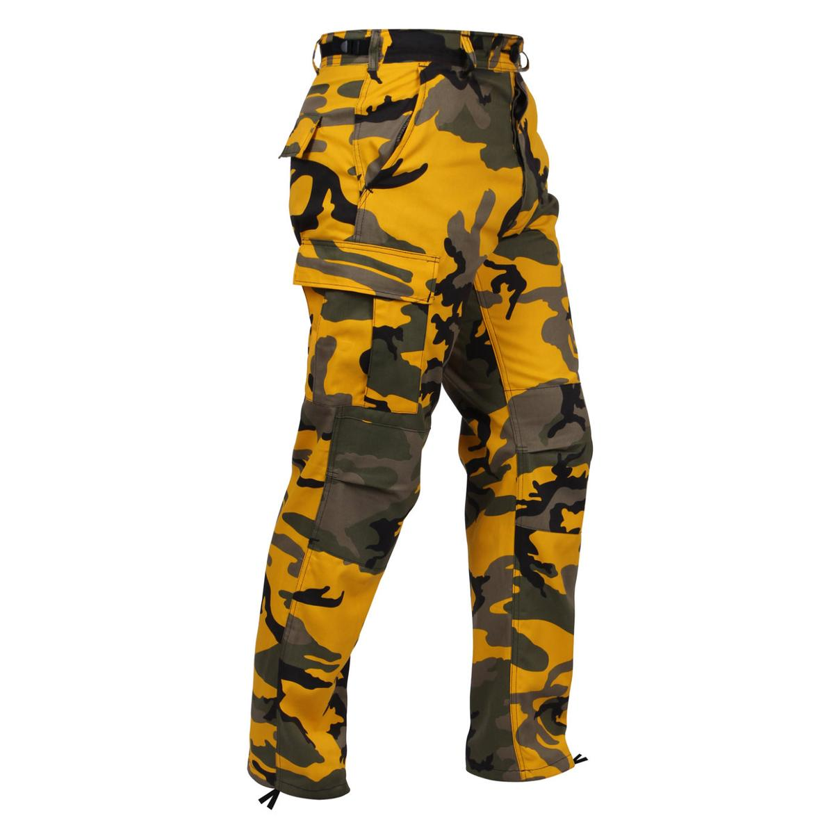 Stinger Yellow Camo BDU Pants, Military Fatigues by Rothco