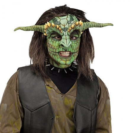 Fantasy Heads Adult Costume Accessory Reptoid Mask (Green Reptile) - Fantasy Mask