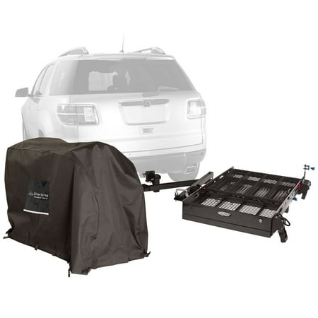 silver spring premium hitch carrier with scooter cover 500 lb