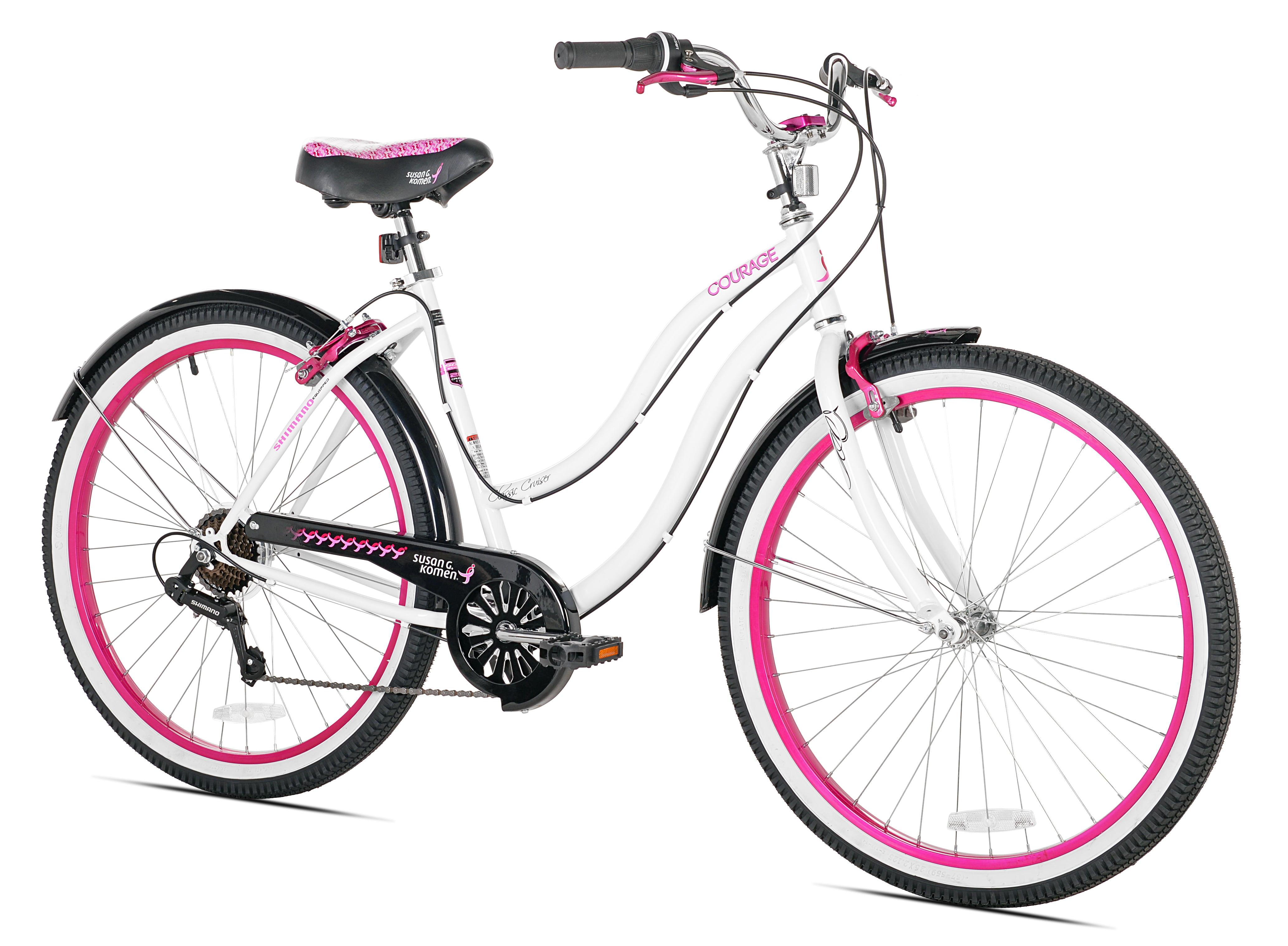 Susan G Komen 26 Cruiser Women S Bike White Pink Walmart Com Walmart Com