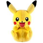 Pokemon XY Pikachu Plush [Sitting, Open Mouth, Hands on Cheeks]