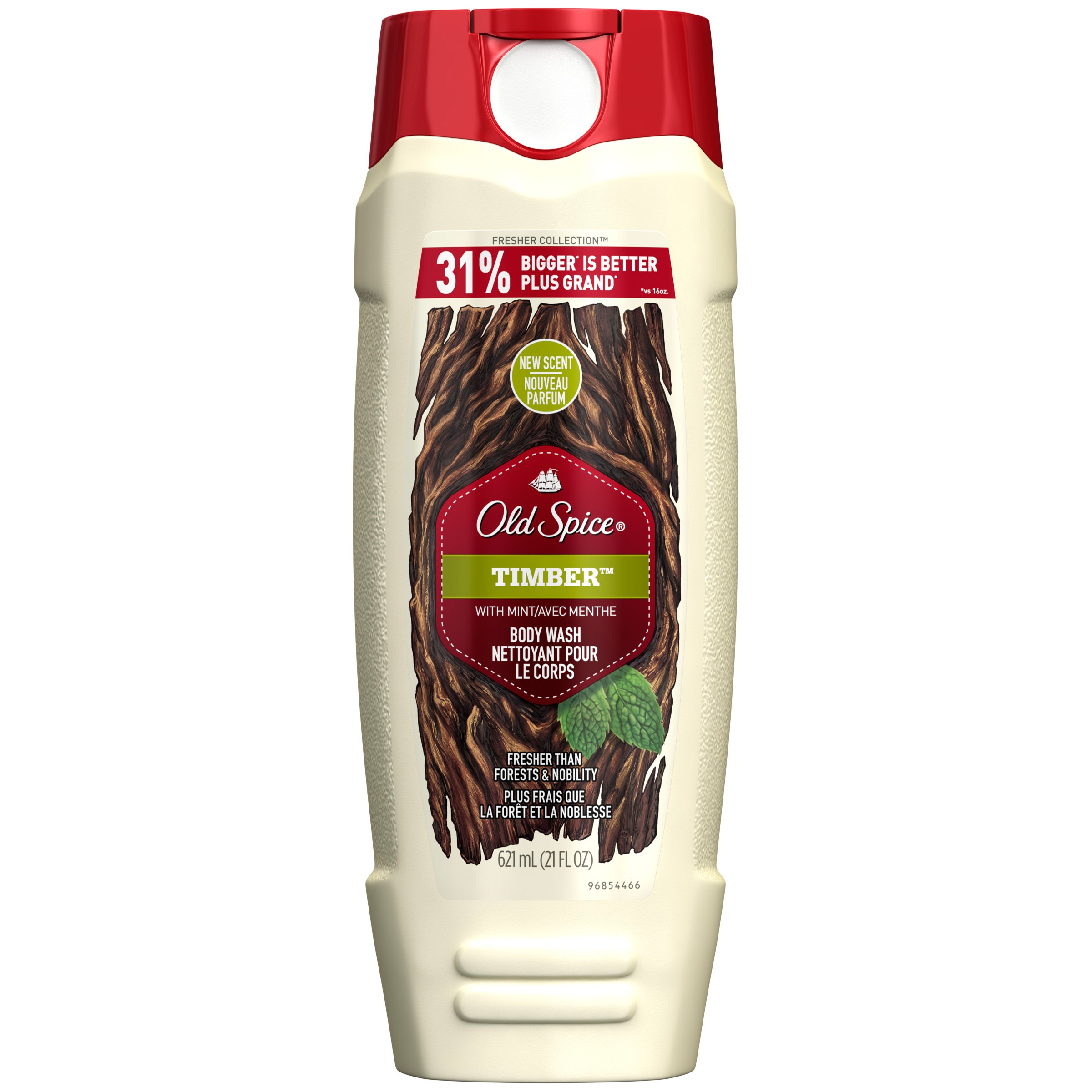Old Spice Fresher Men?s Body Wash, Timber, 21 Oz