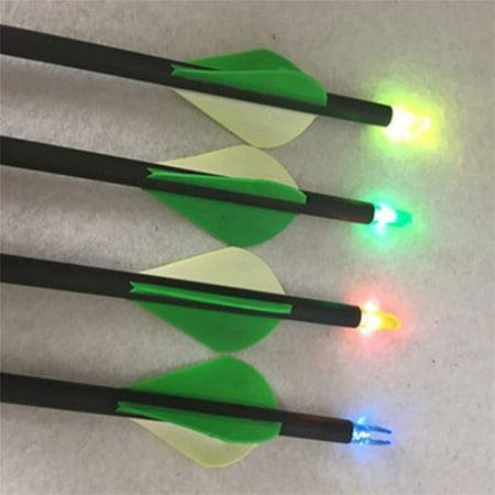 12PCS/SET LED Luminous Arrow Nock Outdoor Hunting Archery Arrow Tail Light - Arrow Of Light Ceremony Ideas