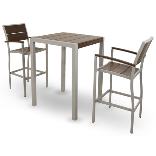 Trex Outdoor Surf City 3 Piece Bar Height Dining Set