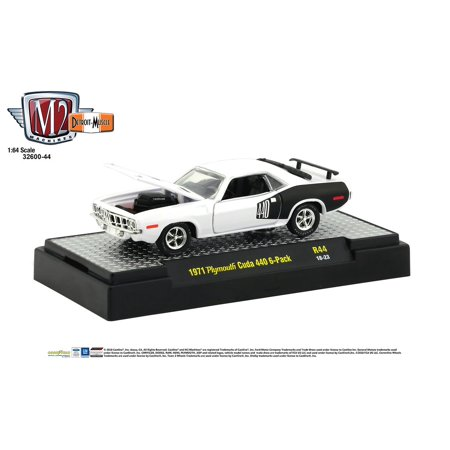 M2 Machines 1:64 Detroit Muscle Release 44 1971 Plymouth Cuda 440 6 pack