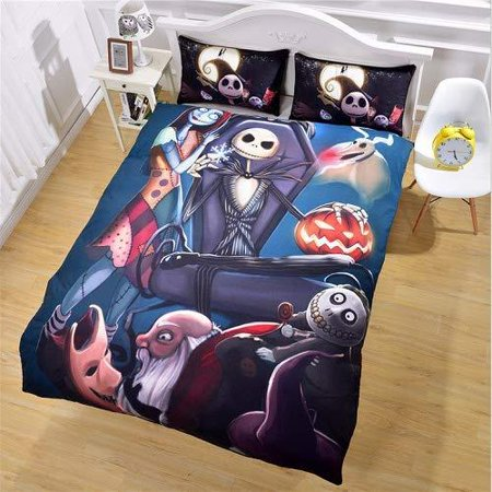 Nightmare Before Christmas Bedroom.Starfashion 3d Nightmare Before Christmas Duvet Cover Sets Scarecrow Style Sally And Jack Skellington Bedding Set Christmas Home Bedroom