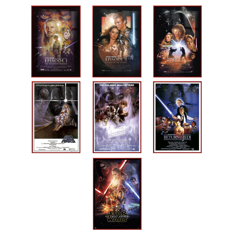 "Star Wars: Episode I, II, III, IV, V, VI & VII - 7 Piece Movie Poster / Print Set (Regular Styles 1) (Size: 24"" x 36"" each)"