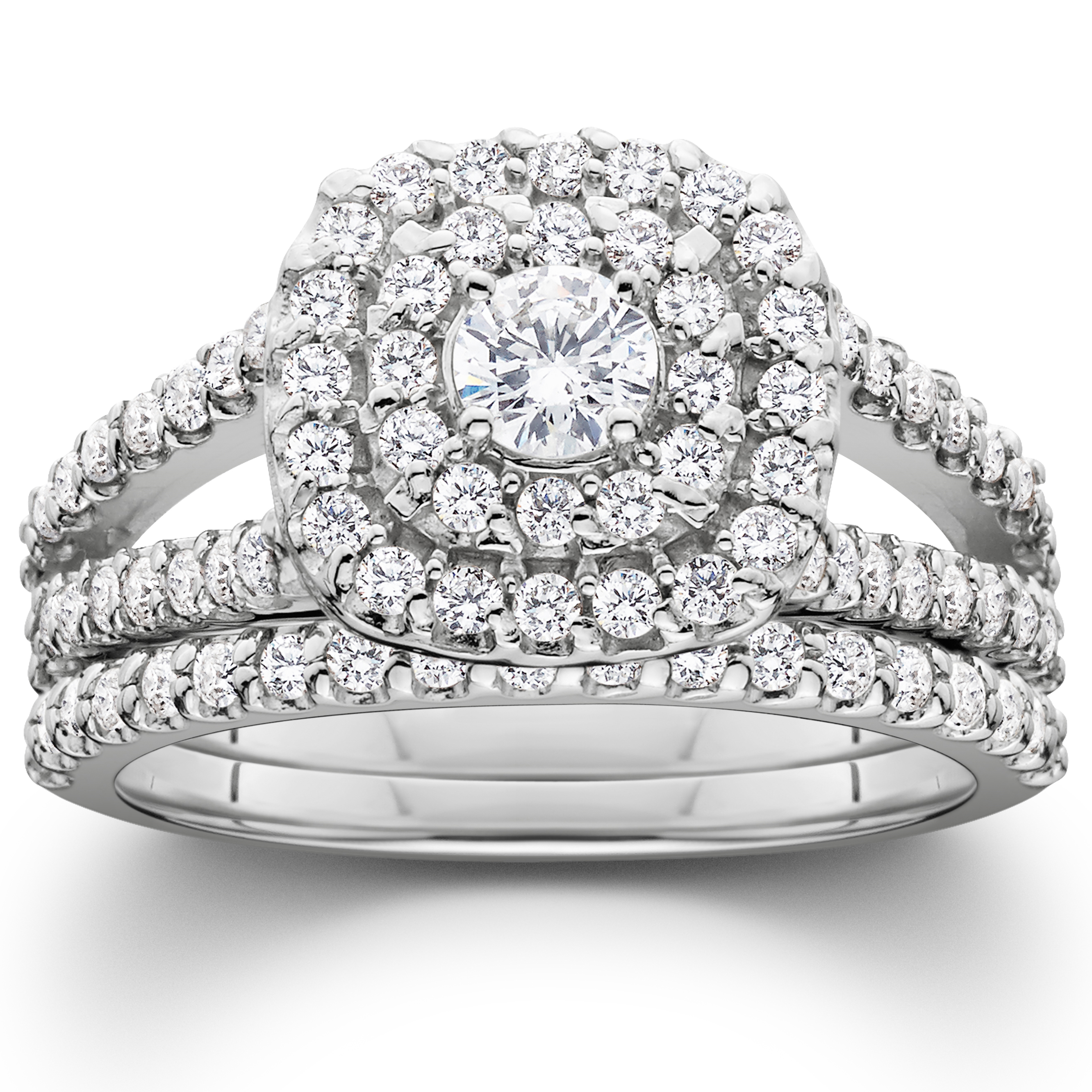 1 1 10ct Cushion Halo Solitaire Diamond Engagement Wedding Ring