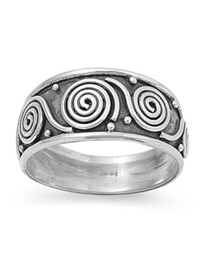 Fashion Jewelry Bali Filigree Oxidized Unique Thumb Ring New 925 Sterling Silver Band Sizes 5-12