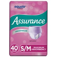 Assurance Incontinence Underwear for Women, Maximum, Small/Medium, 40 Ct