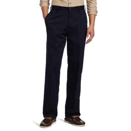 Dark Navy Khaki (izod new navy blue mens size 42x30 khakis chinos flat front pants )