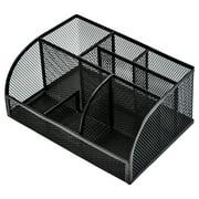 Deli Mesh Desktop Organizer Office Supplies, 7 Compartments, Black