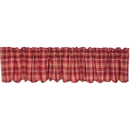 Prime Apple Red Rustic Lodge Kitchen Curtains Braxton Rod Pocket Cotton Plaid 16X90 Valance Download Free Architecture Designs Scobabritishbridgeorg