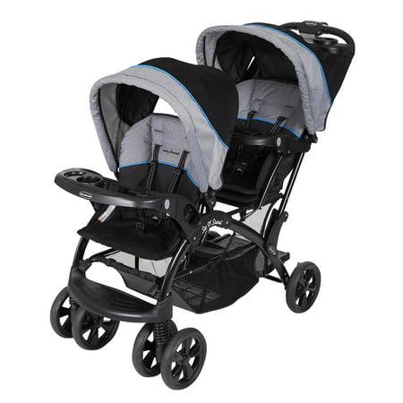 Baby Trend Sit 'N Stand Double Stroller, Millennium Blue - Baby Shower Stroller Theme