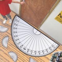 Giant Protractor Cling & Class Set - Educational - 42 Pieces