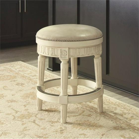 Ashley Crenlam 25 Upholstered Swivel Counter Stool In Antique White